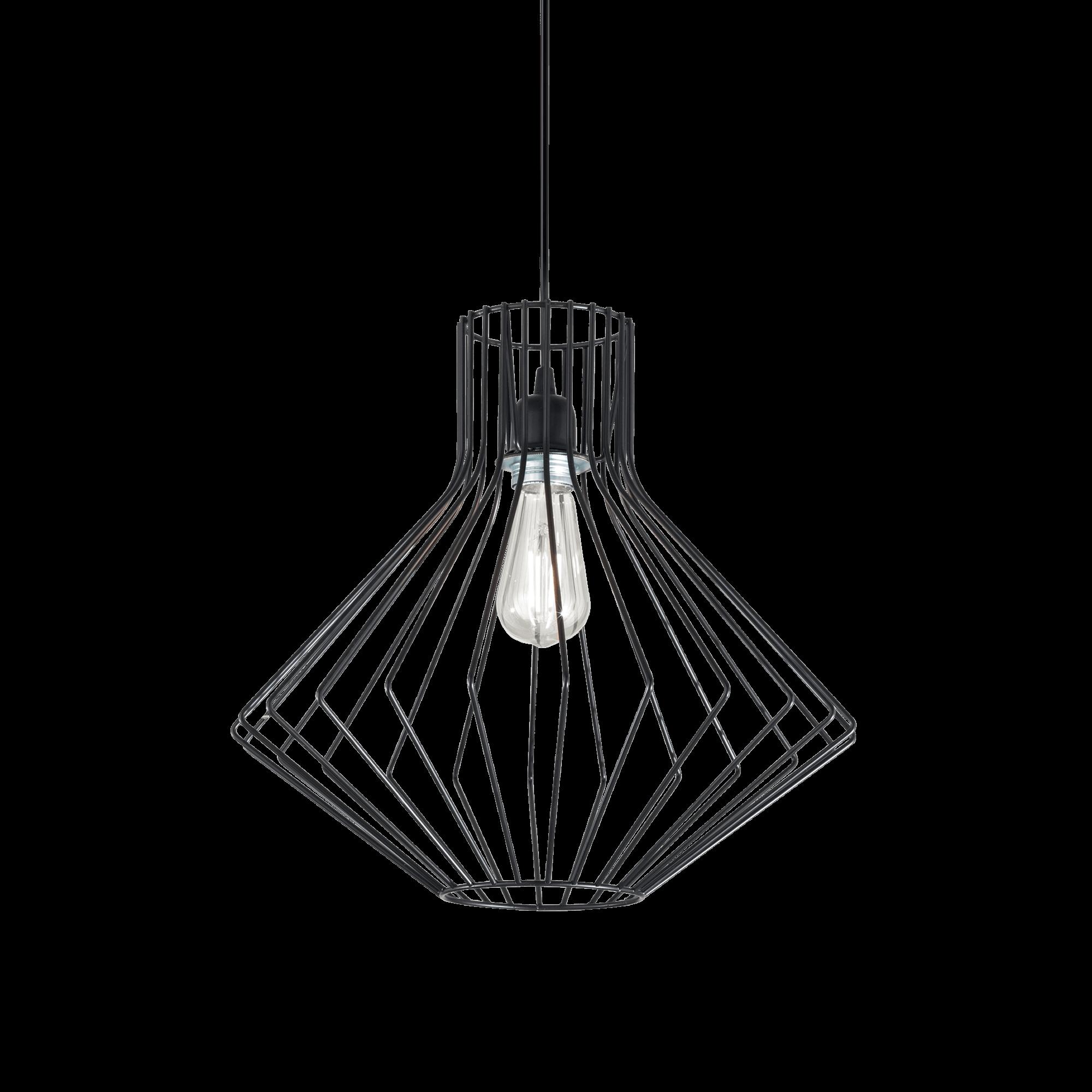 Ideal Lux 167497 AMPOLLA-4 SP1 NERO lámpa függeszték