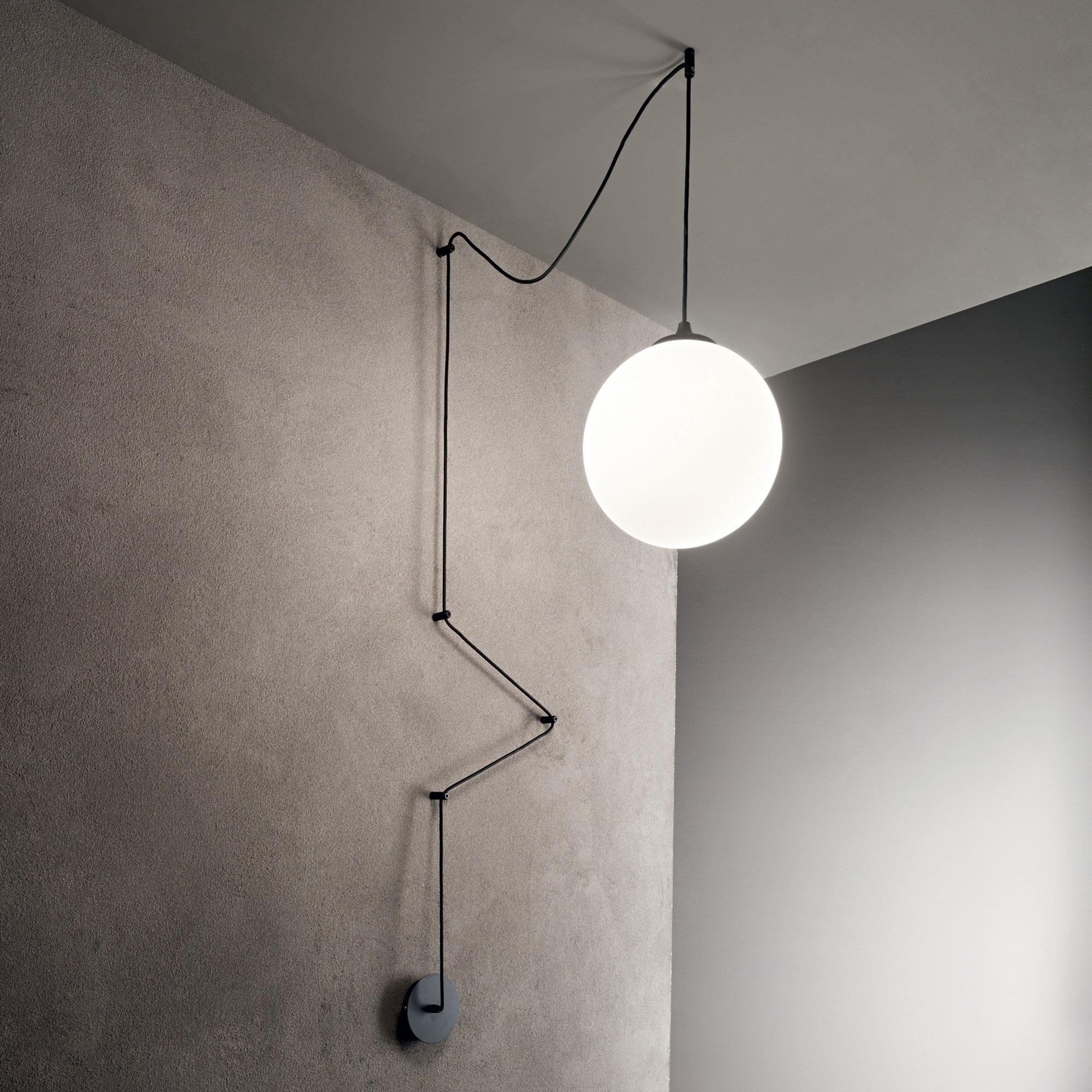 Ideal Lux 160856 BOA SP1 NERO lámpa függeszték