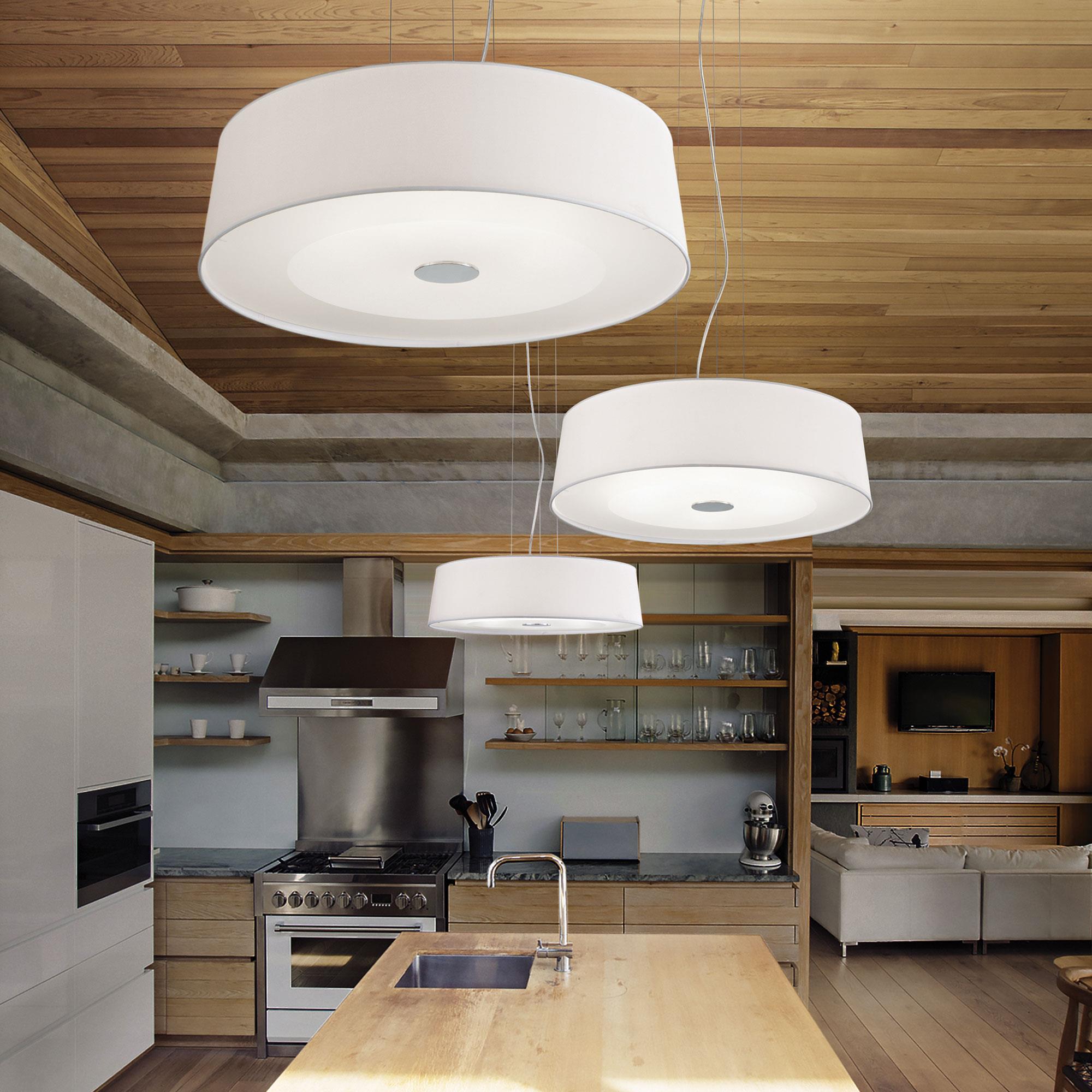 Ideal Lux 075518 Hilton SP6 Round Bianco lámpa függeszték