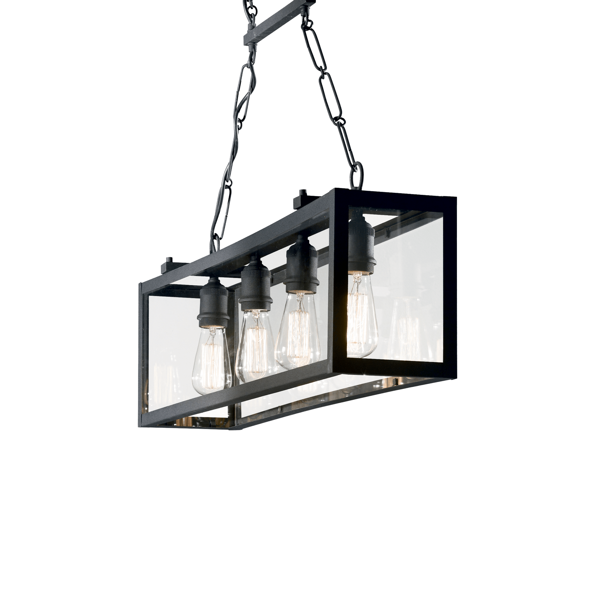 Ideal Lux 092942 Igor SP4 Nero lámpa függeszték
