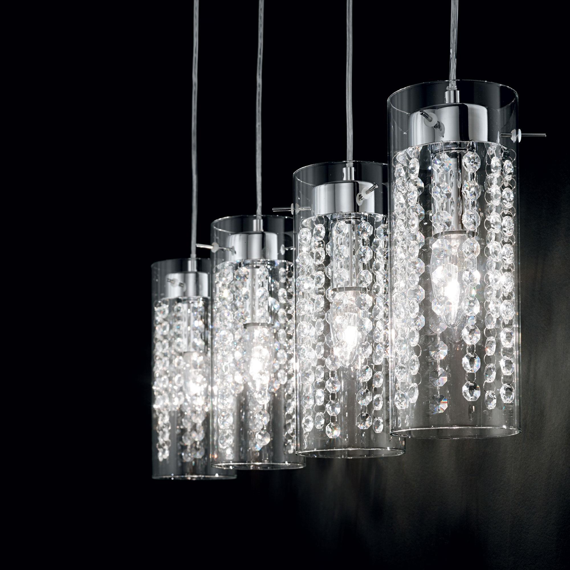 Ideal Lux 052373 Iguazú SP4 kristály lámpa függeszték