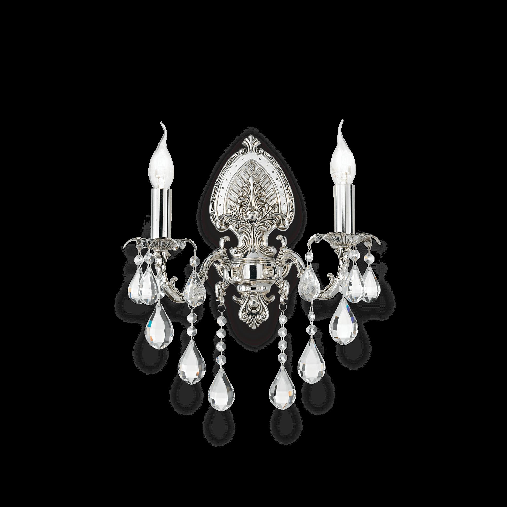 Ideal Lux 030210 Impero AP2 kristály falikar