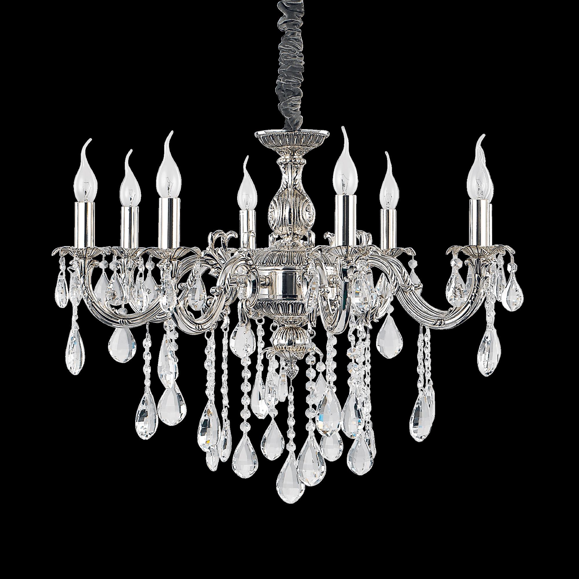 Ideal Lux 014395 Impero SP8 kristály csillár lámpa