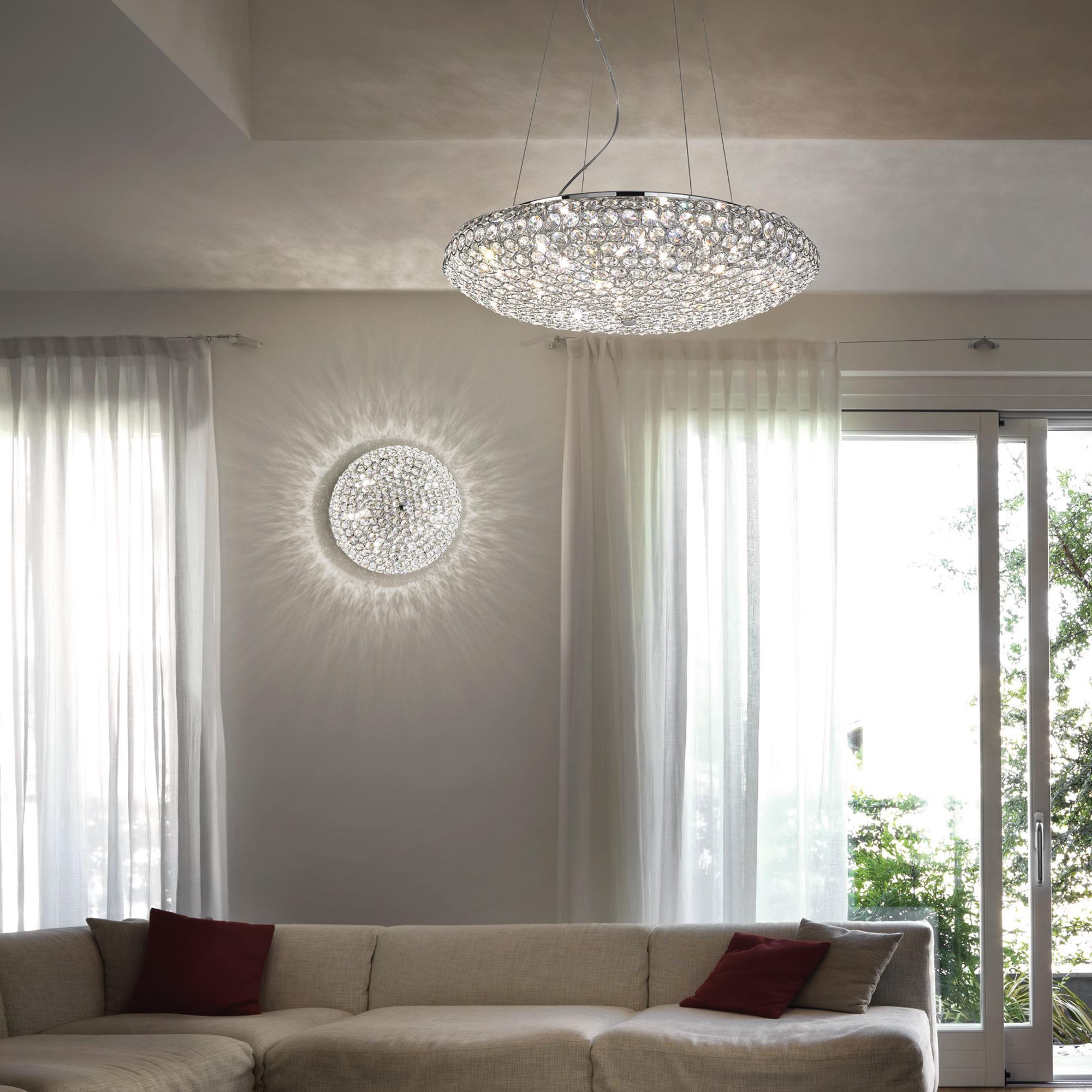 Ideal Lux 087979 King SP7 Cromo kristály függeszték lámpa