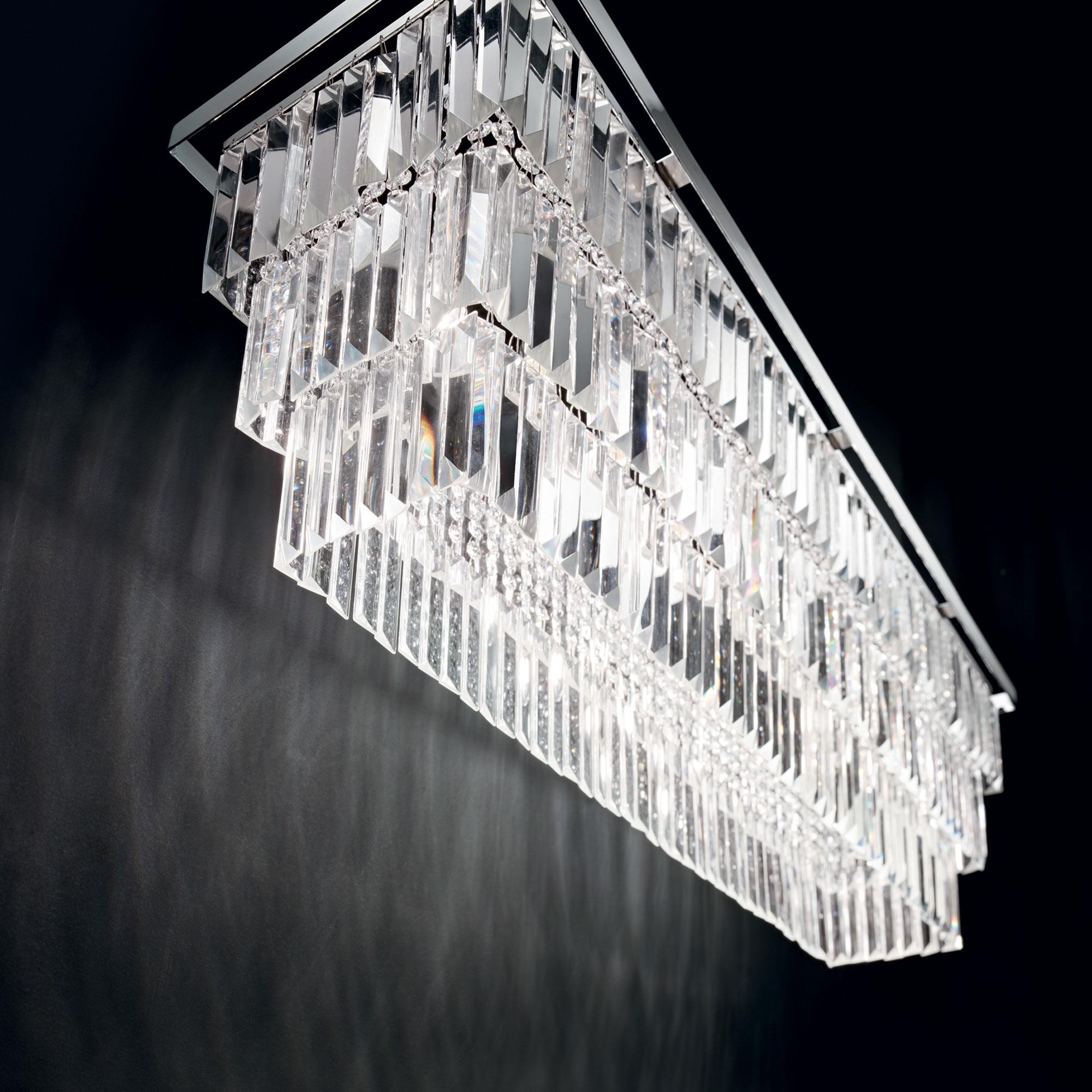 Ideal Lux 166322 MARTINEZ SP6 Cromo kristály függeszték lámpa