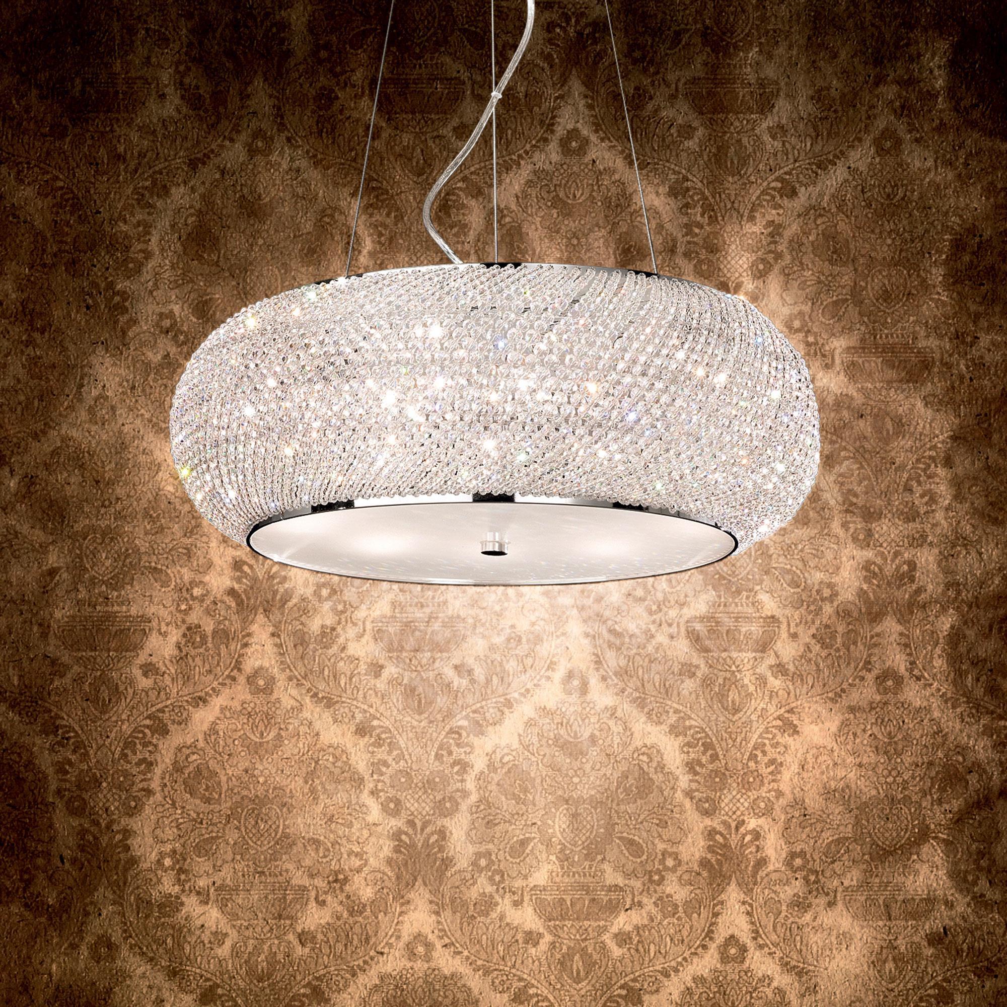 Ideal Lux 164977 PASHA' SP14 CROMO kristály függeszték