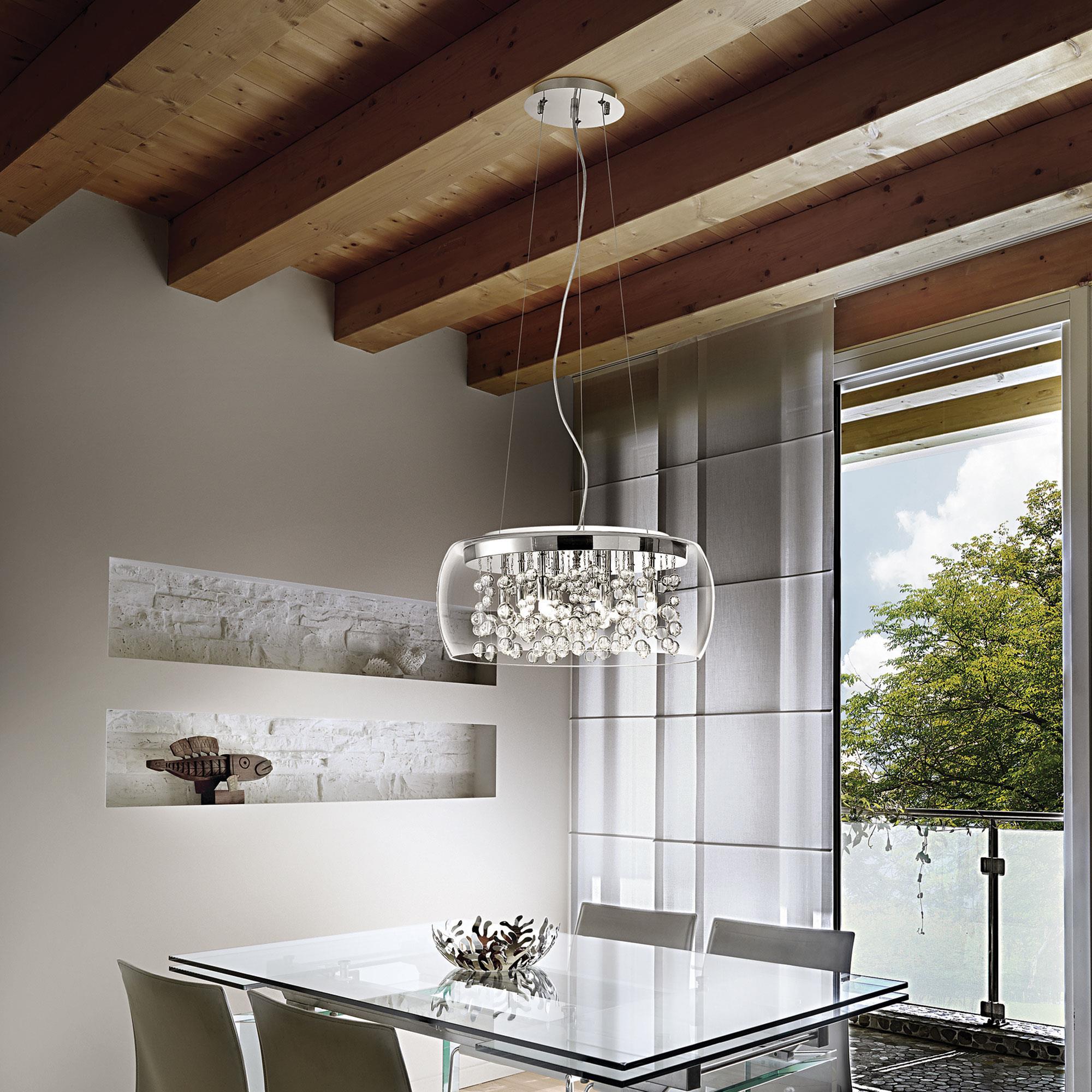 Ideal Lux 031750 Audi 80 SP8 Trasparente függeszték lámpa