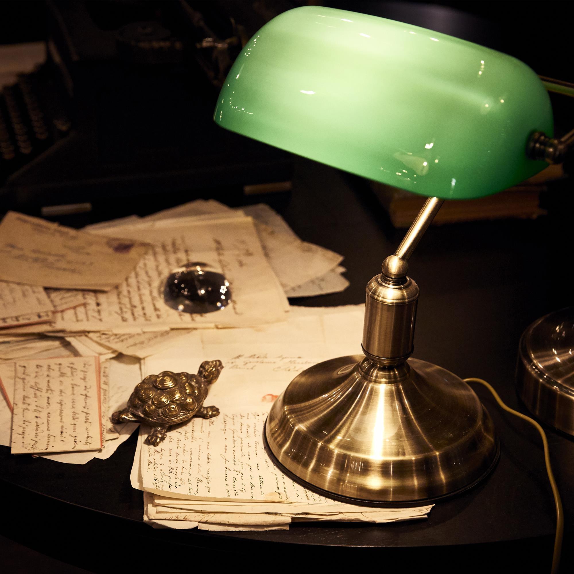 Ideal Lux 045030 Lawyer TL1 Brunito asztali lámpa / Banklámpa