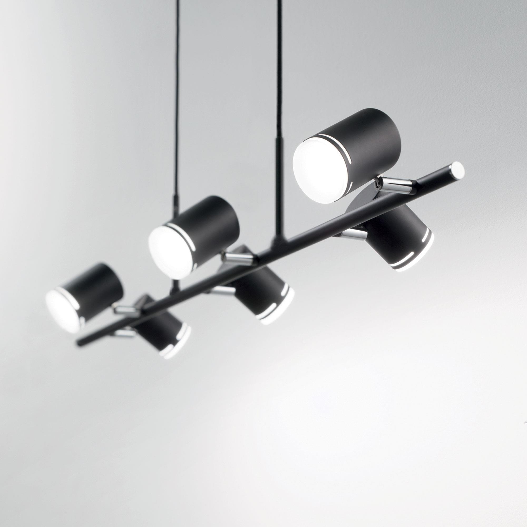 Ideal Lux 179612 SHOTS SP6 NERO LED függeszték