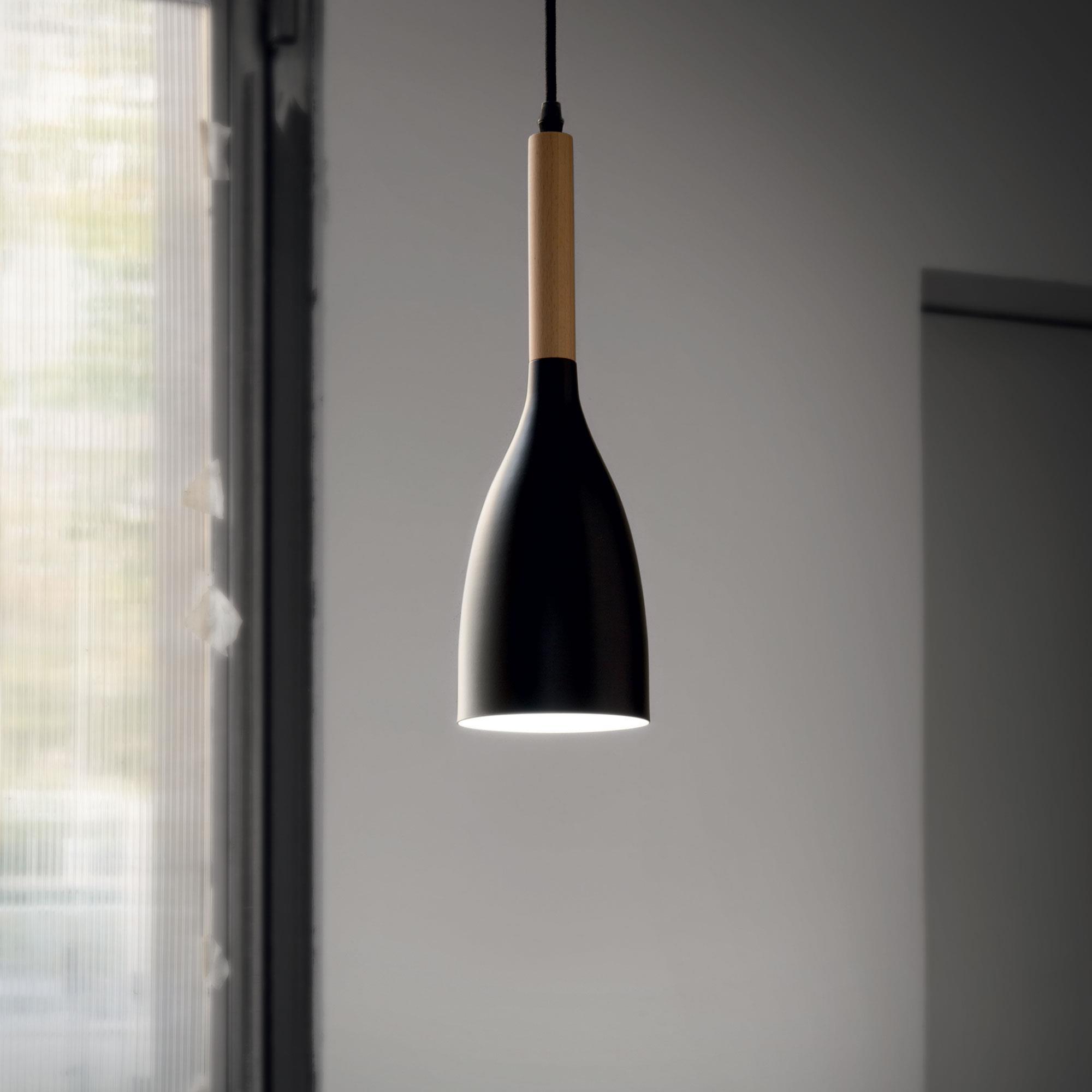 Ideal Lux 110752 Manhattan SP1 Nero lámpa függeszték