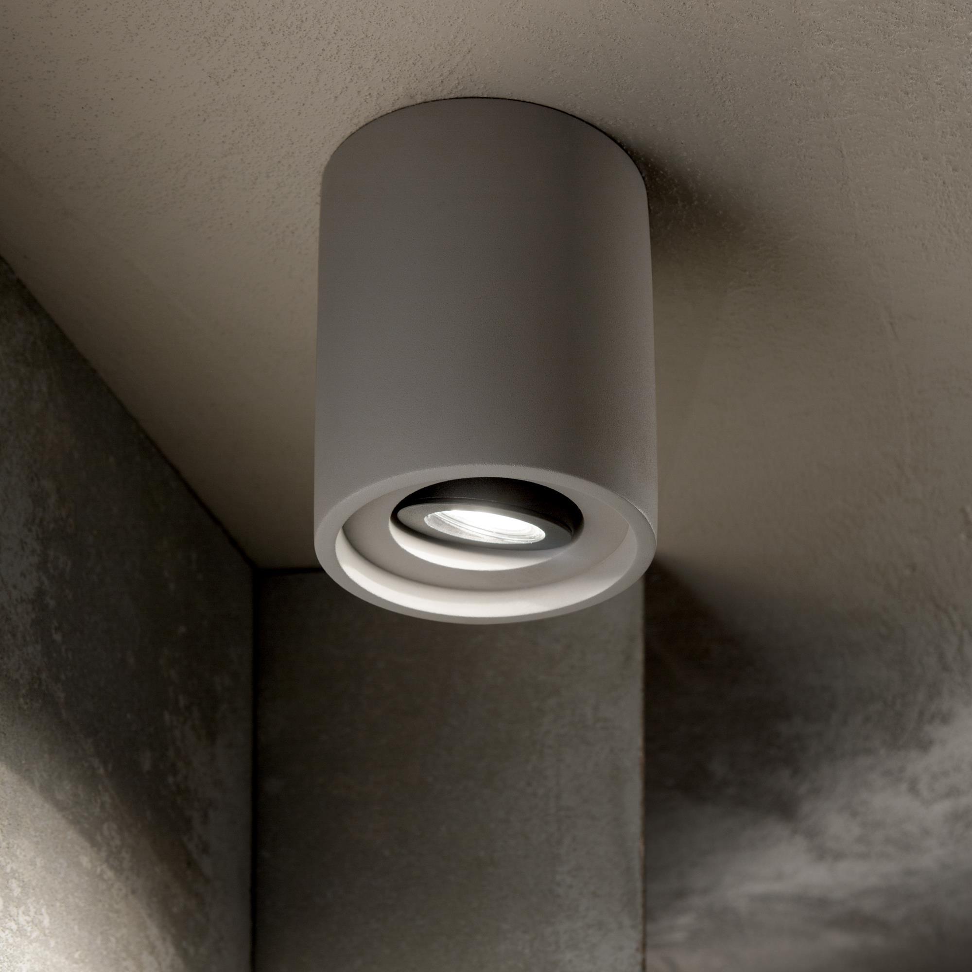Ideal Lux 150437 OAK PL1 ROUND CEMENTO mennyezeti lámpa