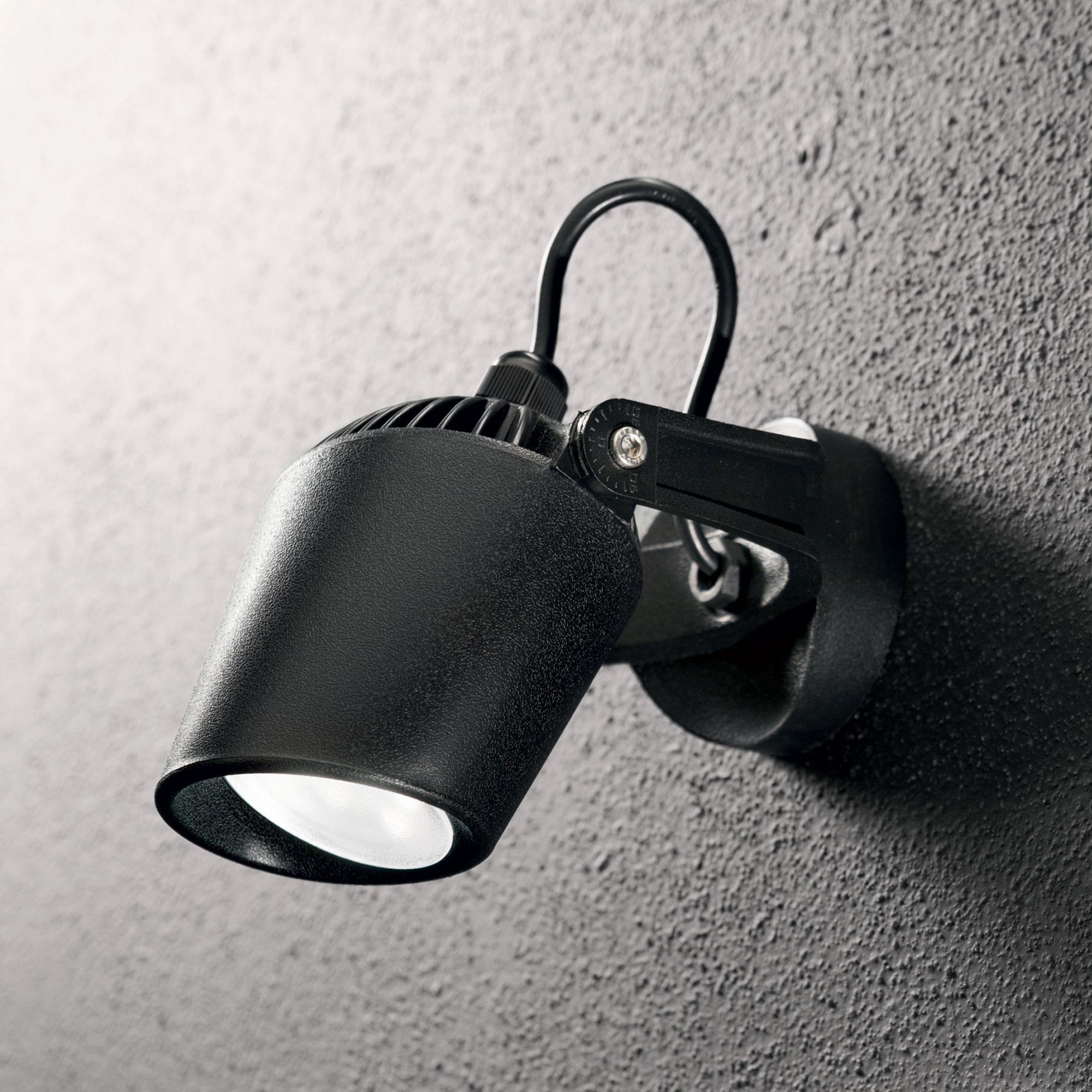 Ideal Lux 096476 Minitommy AP1 Nero kültéri falilámpa