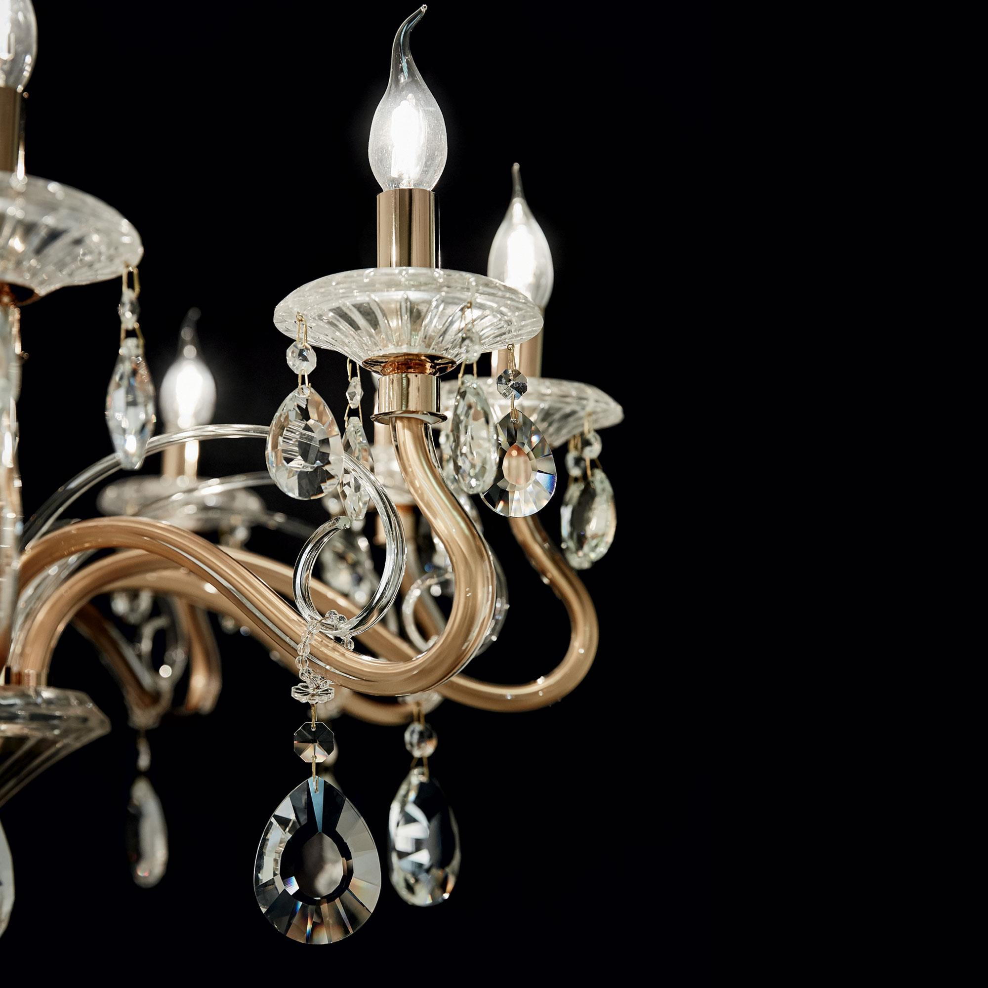 Ideal Lux 087771 Negresco SP10 Oro kristály csillár