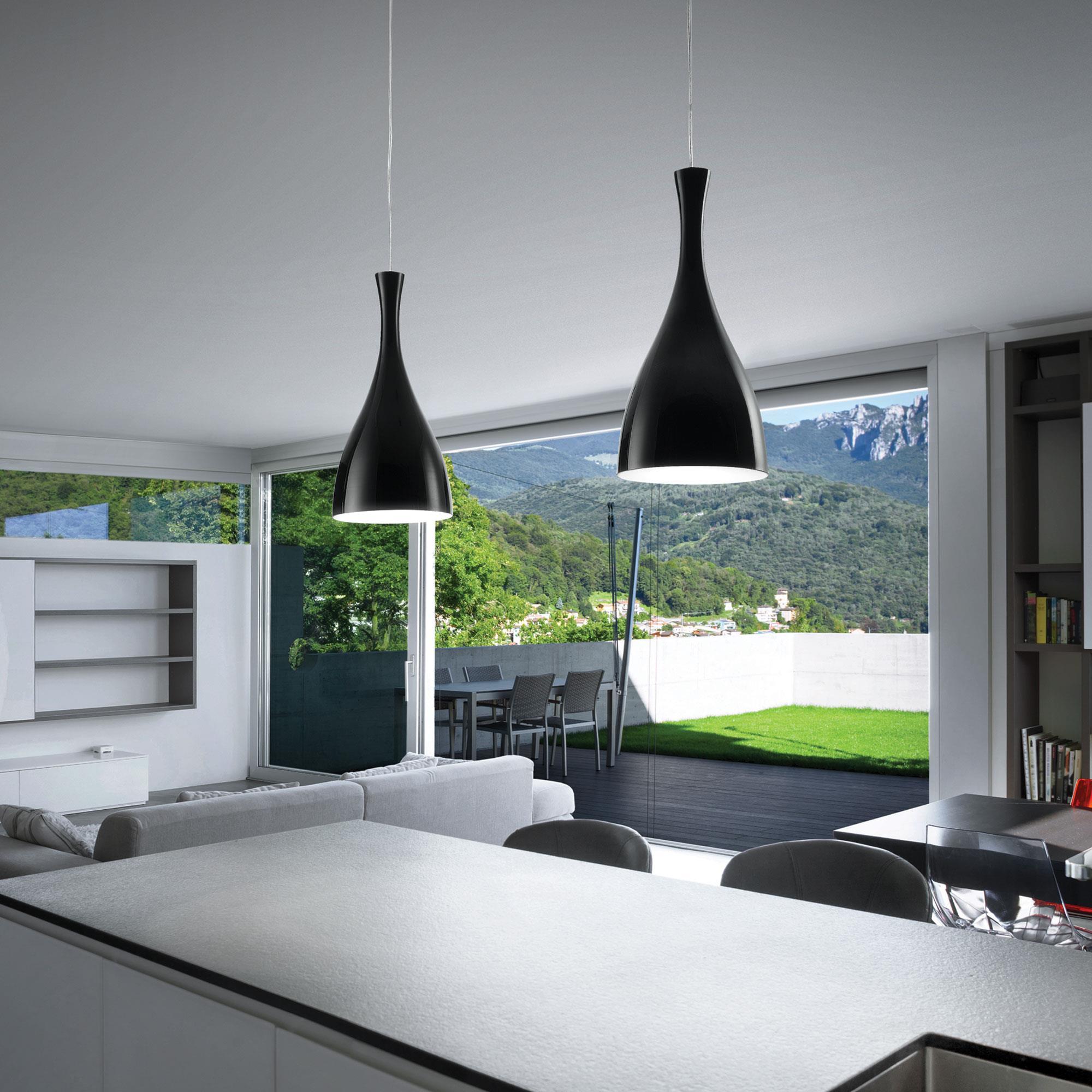 Ideal Lux 012919 Olimpia SP1 Nero lámpa függeszték