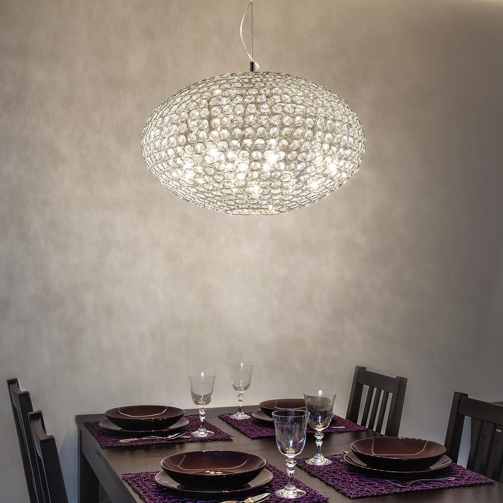 Ideal Lux 066387 Orion SP8 kristály lámpa függeszték
