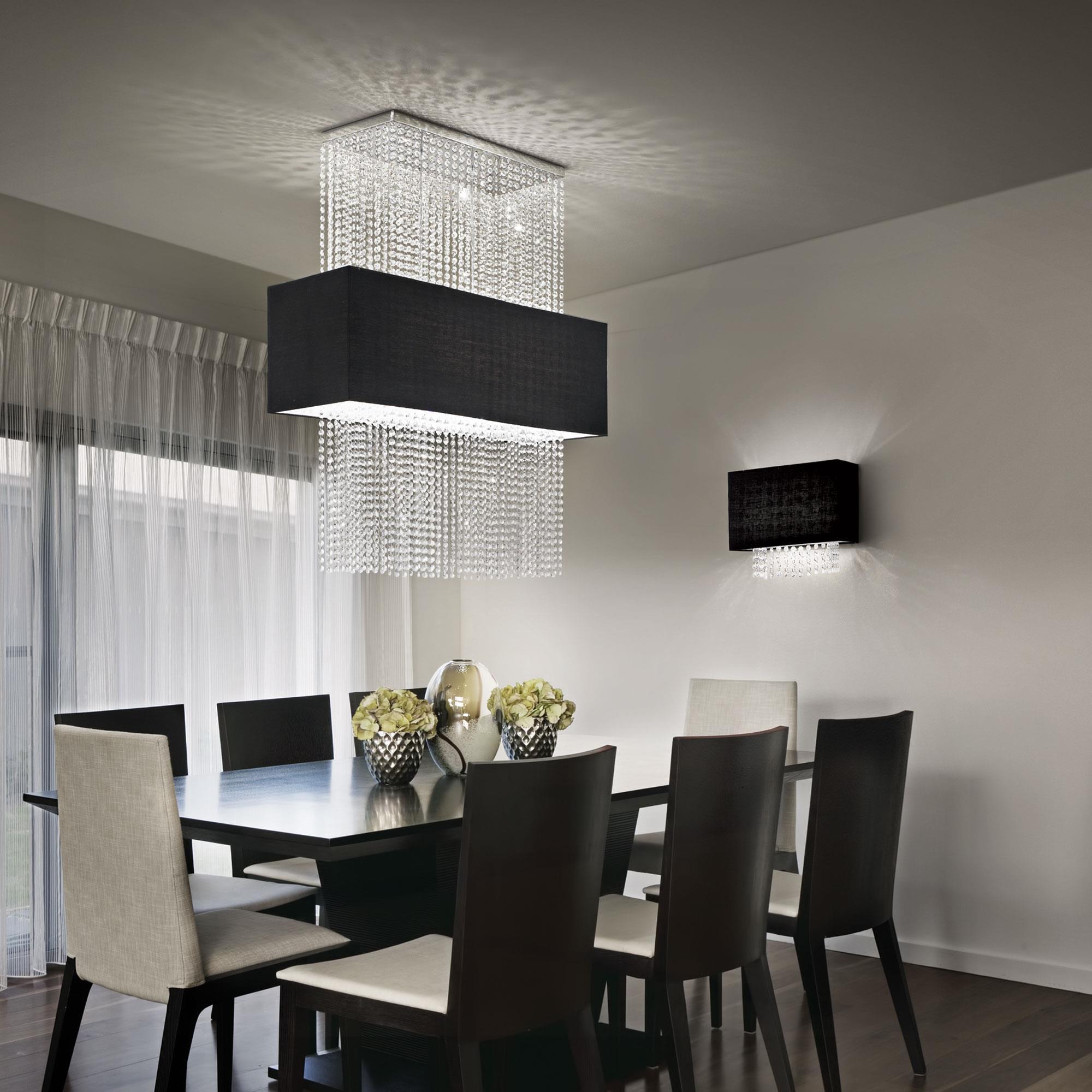 Ideal Lux 101163 Phoenix SP5 Nero kristály lámpa függeszték