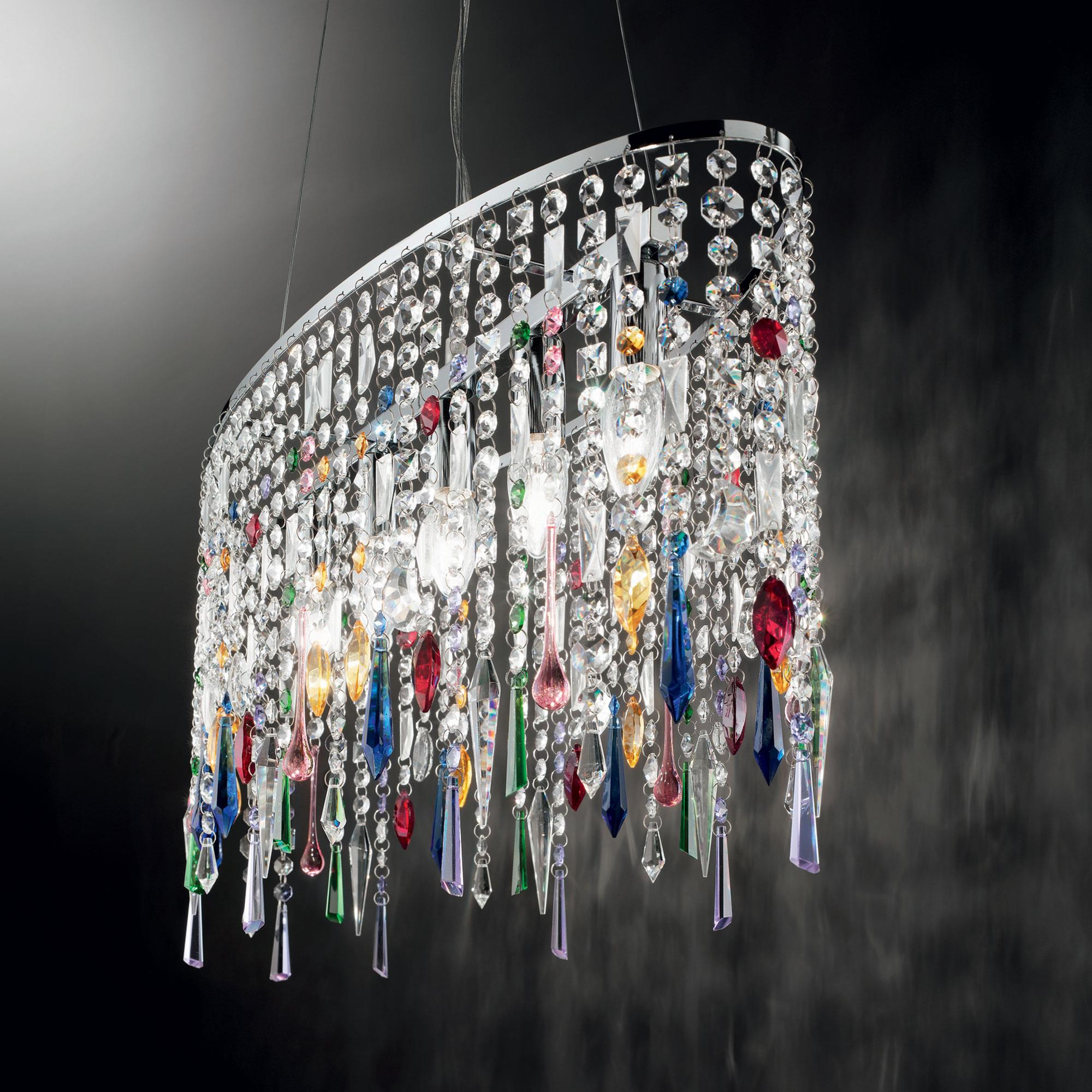 Ideal Lux 105277 RAIN COLOR SP5 kristály függeszték