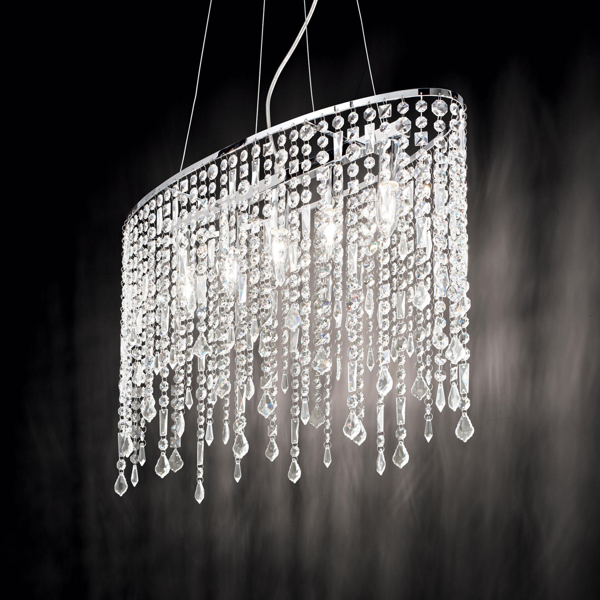 Ideal Lux 008363 Rain SP5 Clear kristály lámpa függeszték