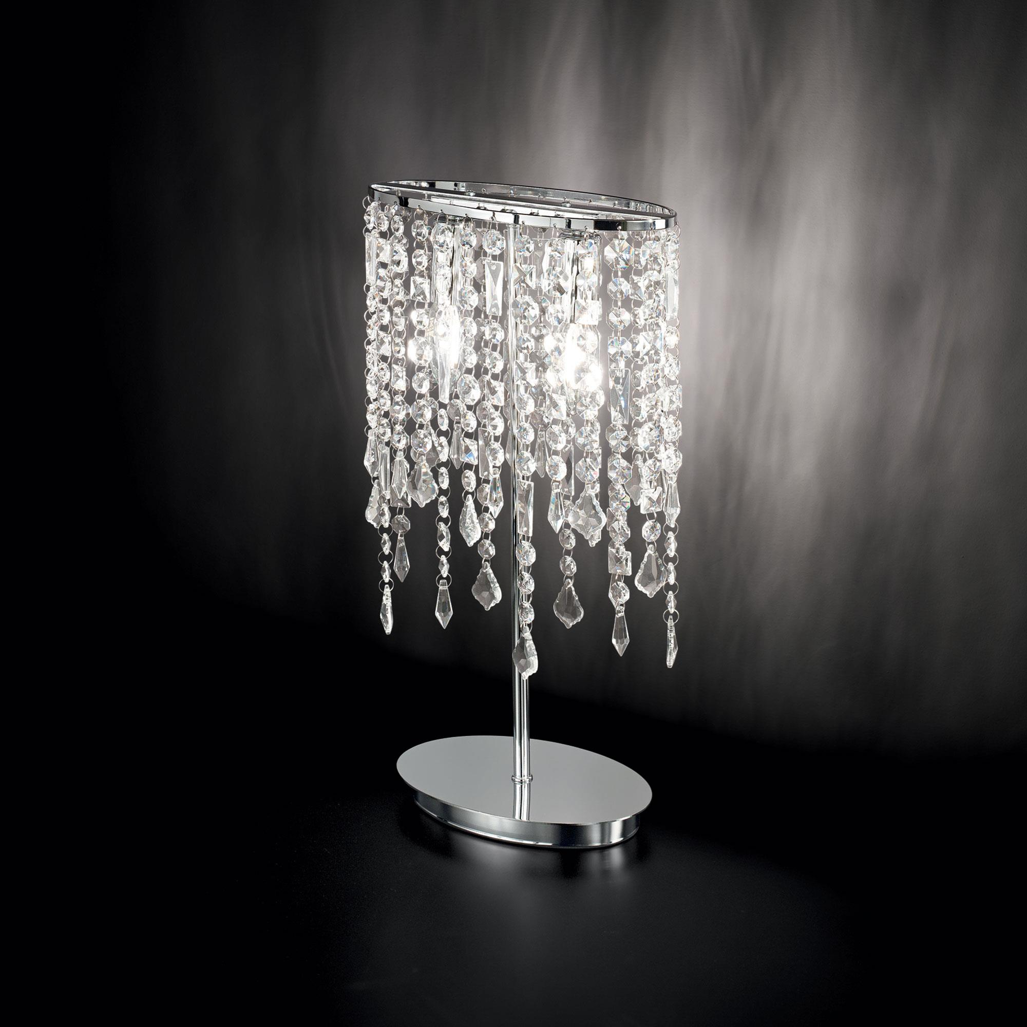 Ideal Lux 008356 Rain TL2 Clear asztali kristály lámpa