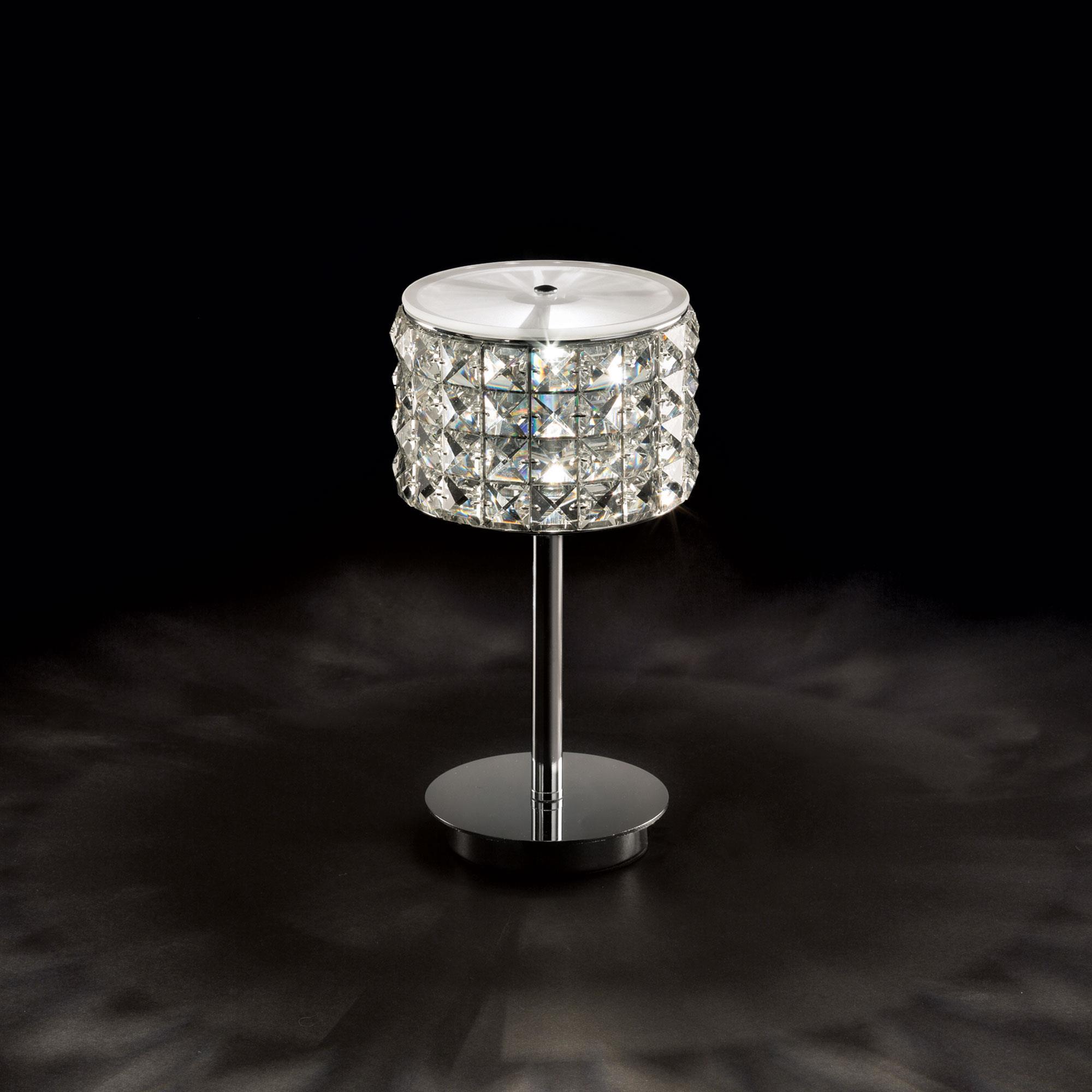 Ideal Lux 114620 Roma TL1 kristály asztali lámpa