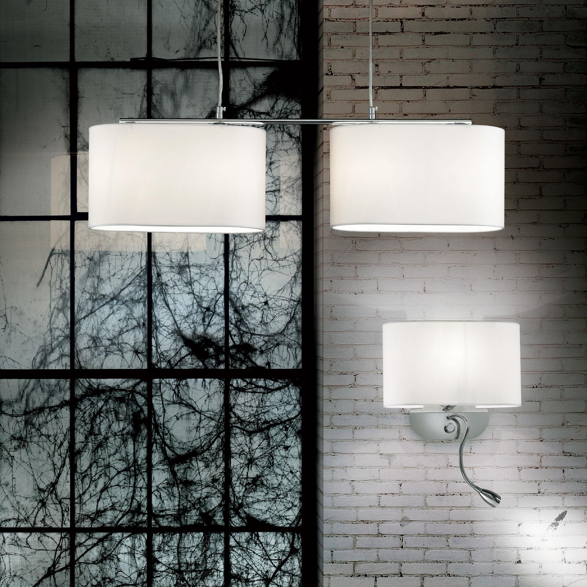 Ideal Lux 074900 Sheraton AP2 Bianco LED olvasókaros falilámpa