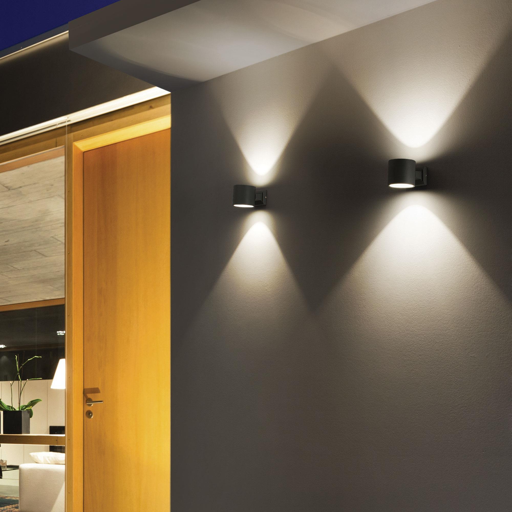 Ideal Lux 061467 Snif AP1 Round Antracite kültéri falilámpa