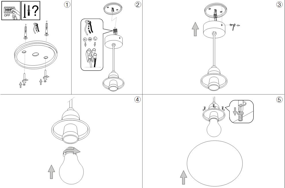 Ideal Lux 135991 Sole SP1 Small kültéri lámpa függeszték