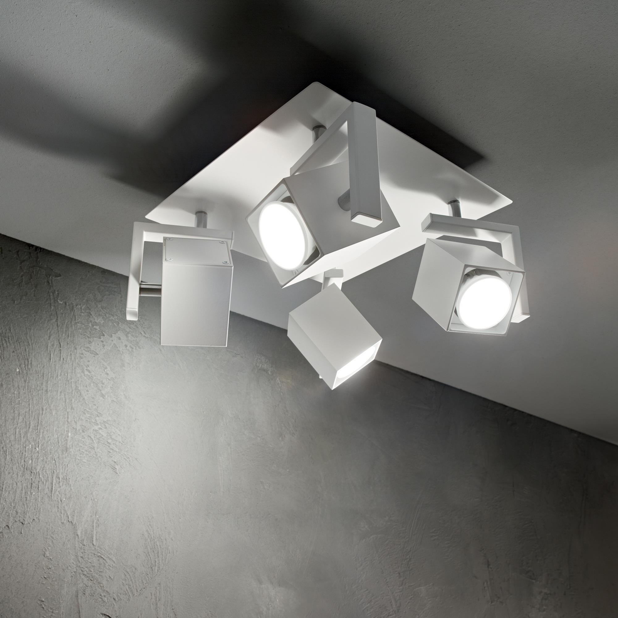 Ideal Lux 073583 MOUSE PL4 BIANCO spot mennyezeti lámpa