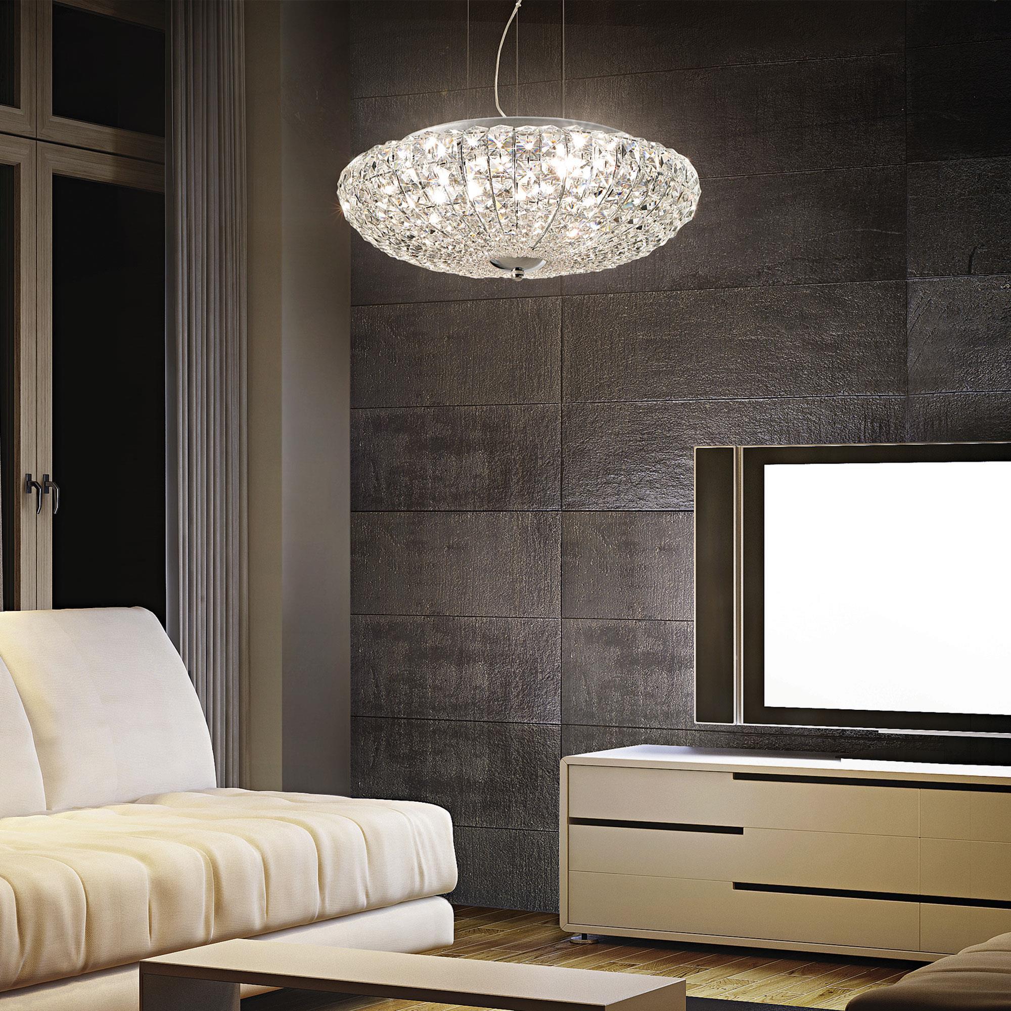 Ideal Lux 023328 Virgin SP6 kristály függeszték