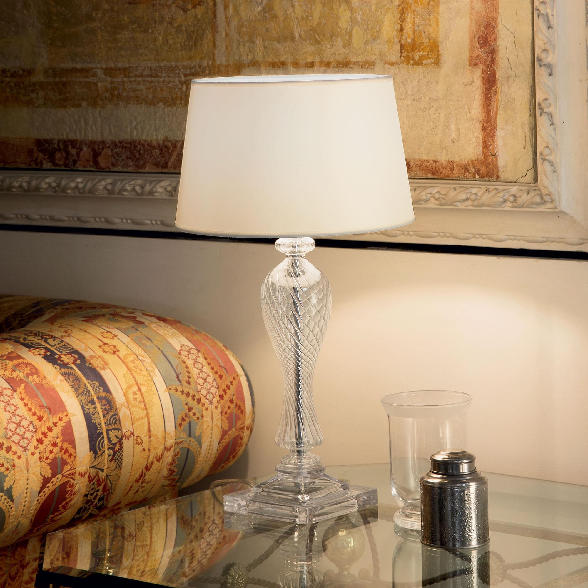 Ideal Lux 001180 Voga TL1 Bianco asztali lámpa