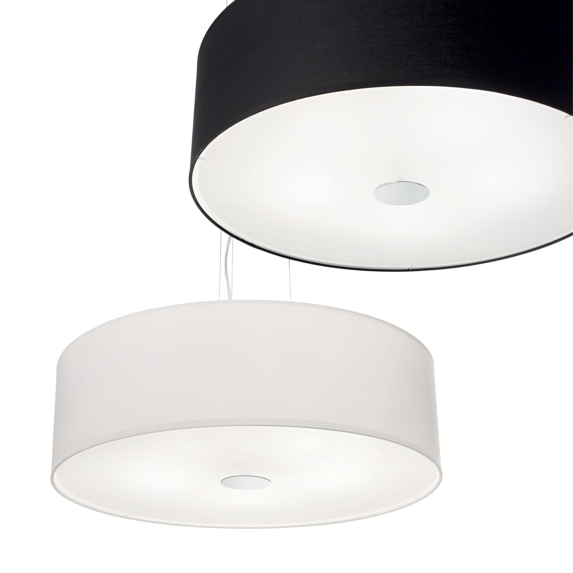 Ideal Lux 105628 Woody SP5 Nero lámpa függeszték