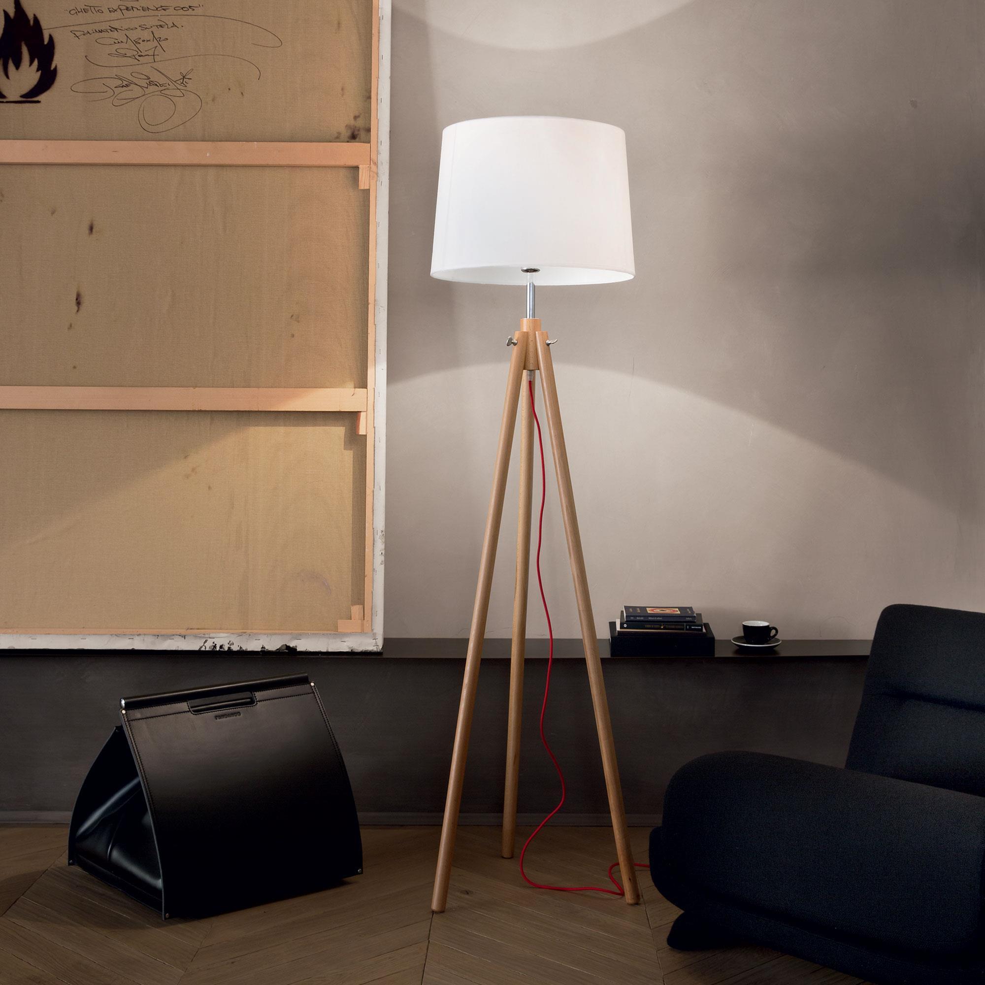 Ideal Lux 089805 York PT1 Wood állólámpa