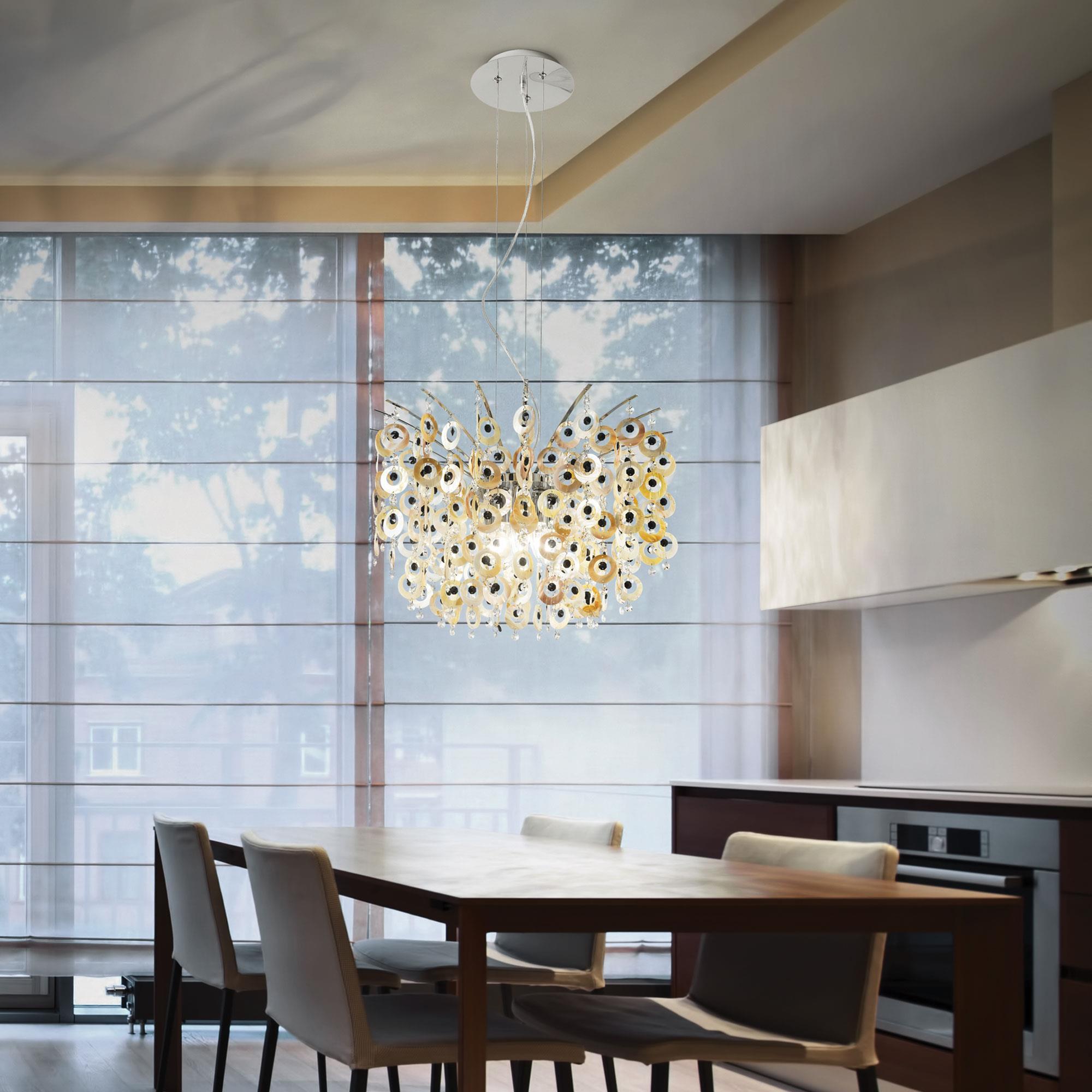 Ideal Lux 016870 Pavone SP6 lámpa függeszték