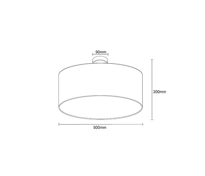 Zuma ZU-HP1392-C-500-BL Andrea mennyezeti lámpa
