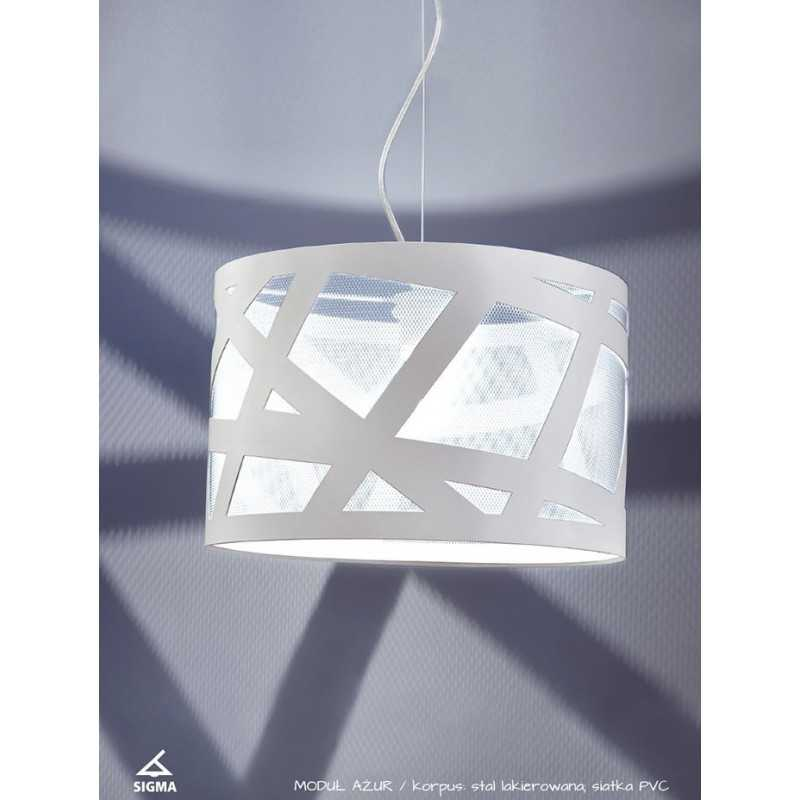 30347 Sigma Modul Azur L bialy lámpa függeszték