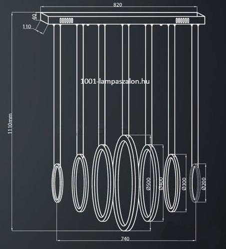 ML335 Milagro Ring LED lámpa függeszték
