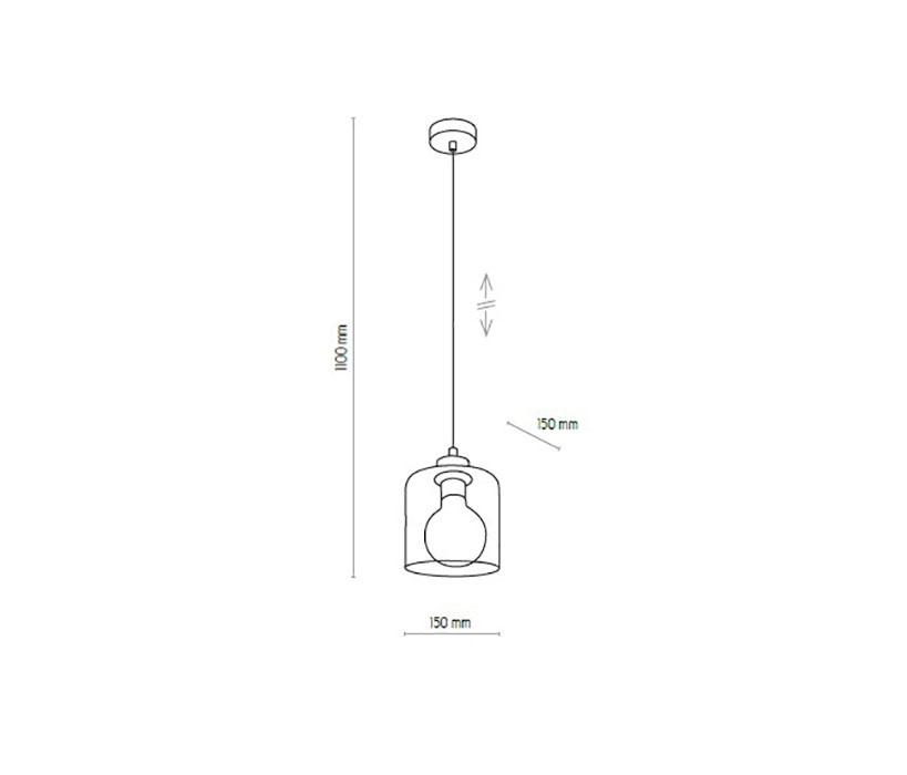 TK Lighting TK-2738 Sintra függeszték
