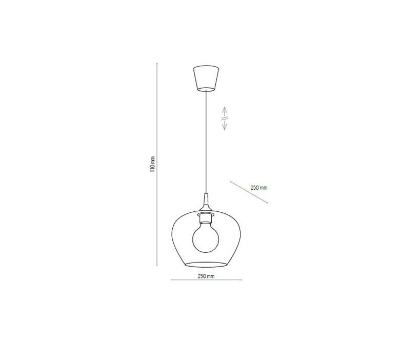 TK Lighting TK-4017 Coral függeszték