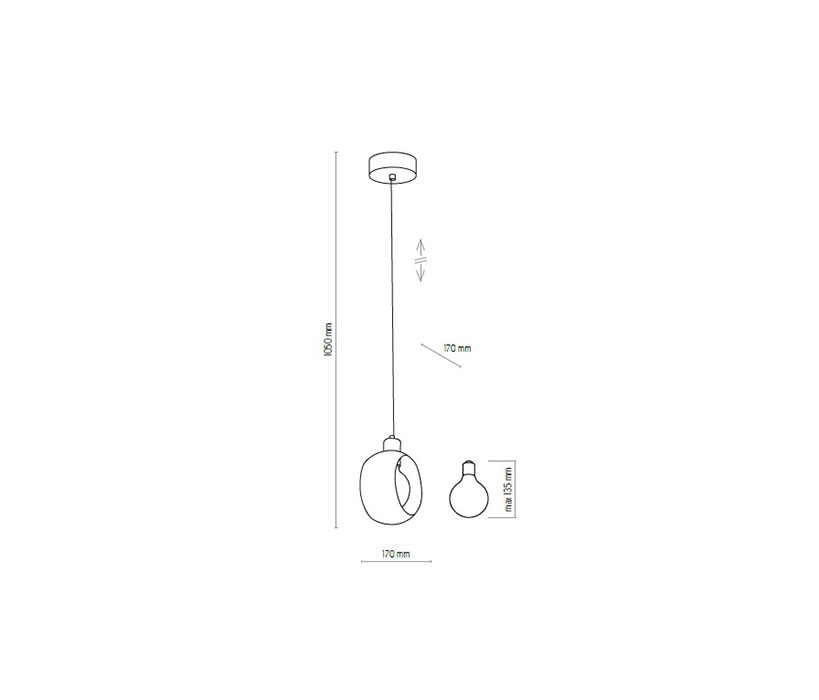 TK Lighting TK-2751 Cyklop lámpa függeszték