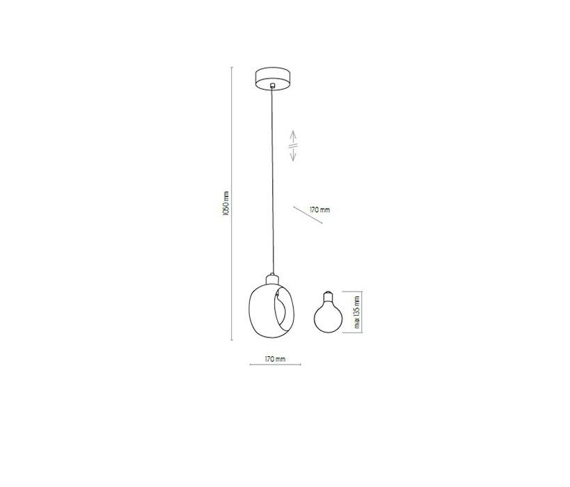 TK Lighting TK-2741 Cyklop függeszték