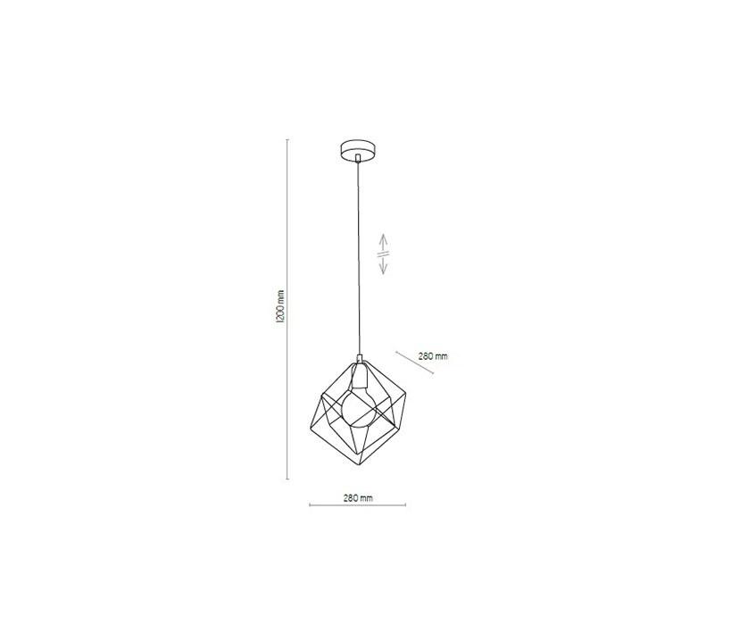 TK Lighting TK-2777 Alambre függeszték