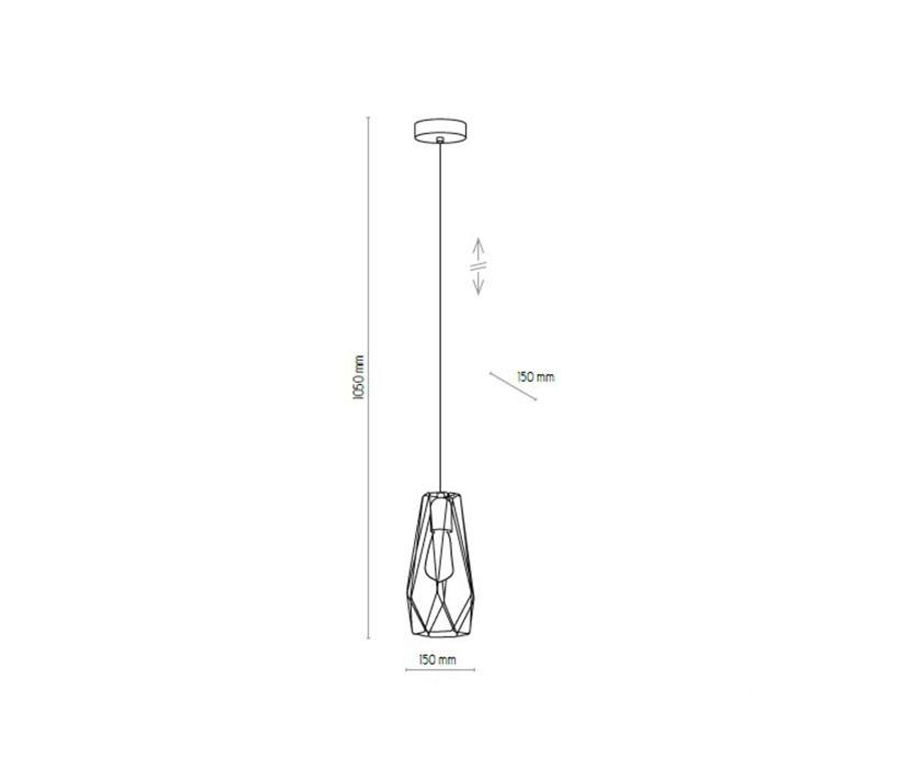 TK Lighting TK-2845 Lugo lámpa függeszték