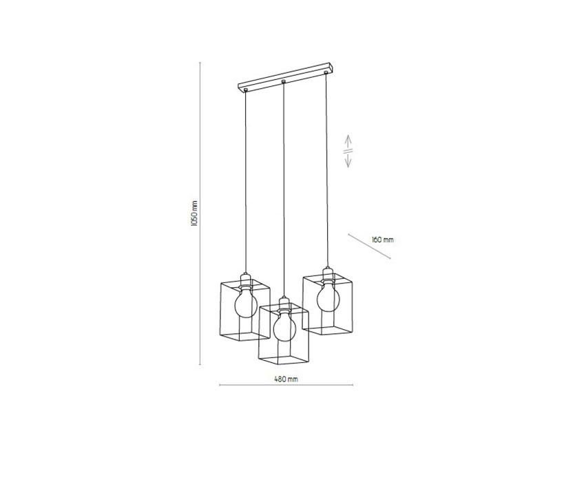 TK Lighting TK-4200 Cayo lámpa függeszték