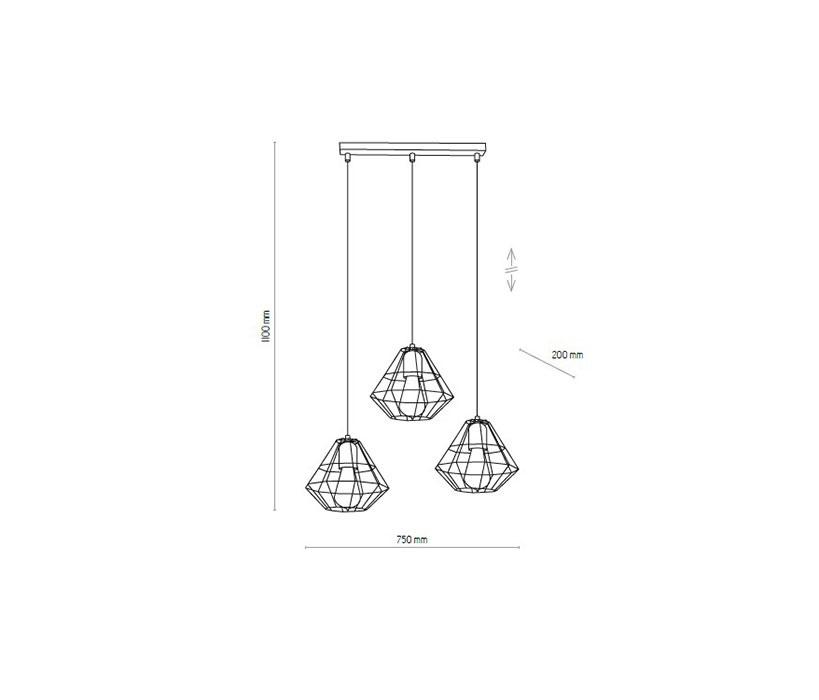 TK Lighting TK-4111 Diamond lámpa függeszték