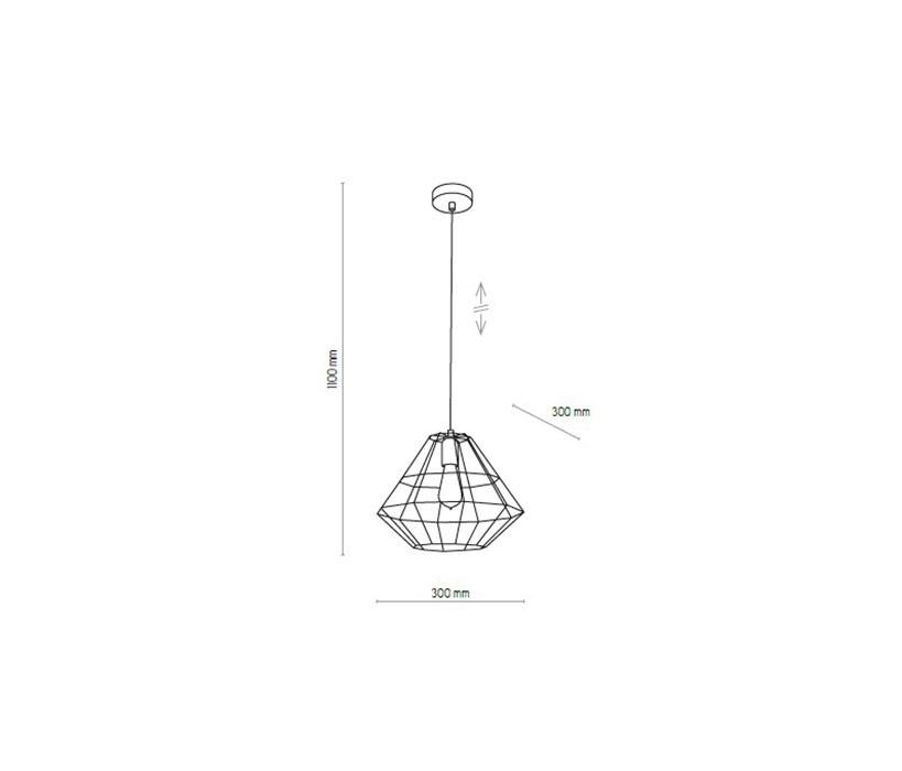 TK Lighting TK-4450 Diamond lámpa függeszték