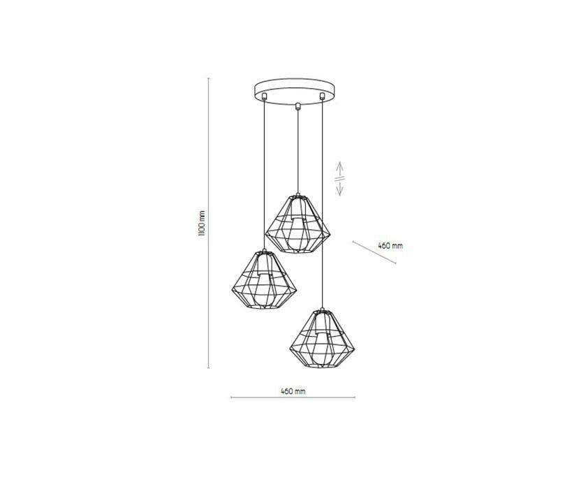 TK Lighting TK-4277 Diamond lámpa függeszték