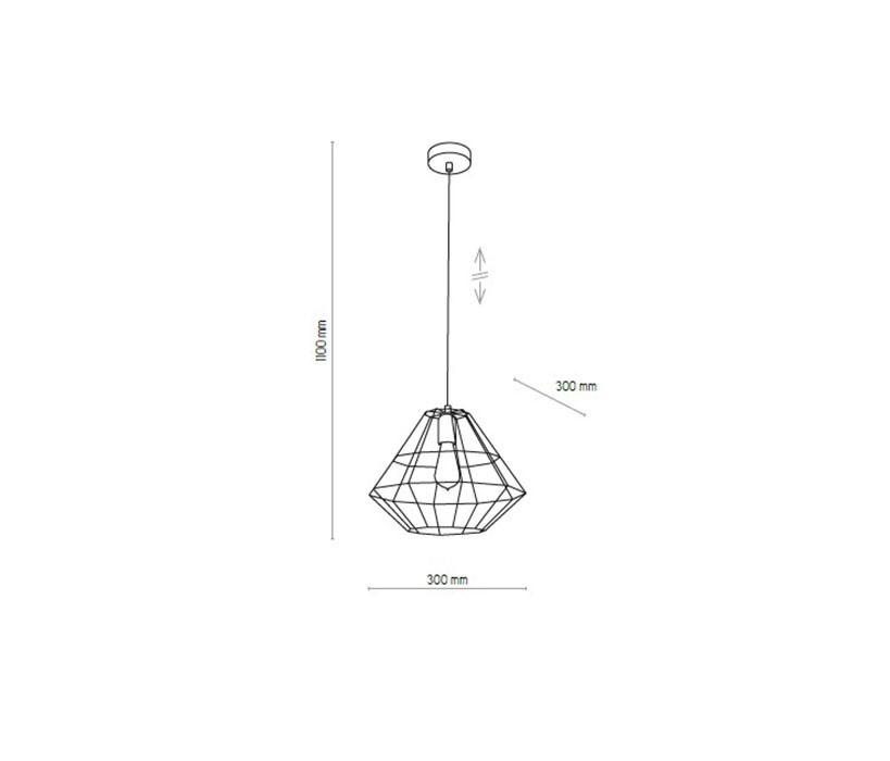 TK Lighting TK-4203 Diamond lámpa függeszték