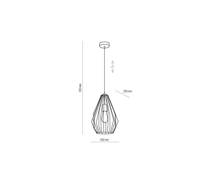 TK Lighting TK-2815 Brylant lámpa függeszték