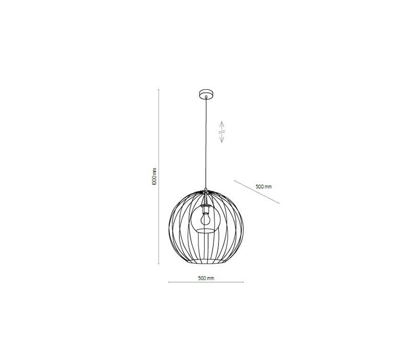 TK Lighting TK-2552 Universo lámpa függeszték