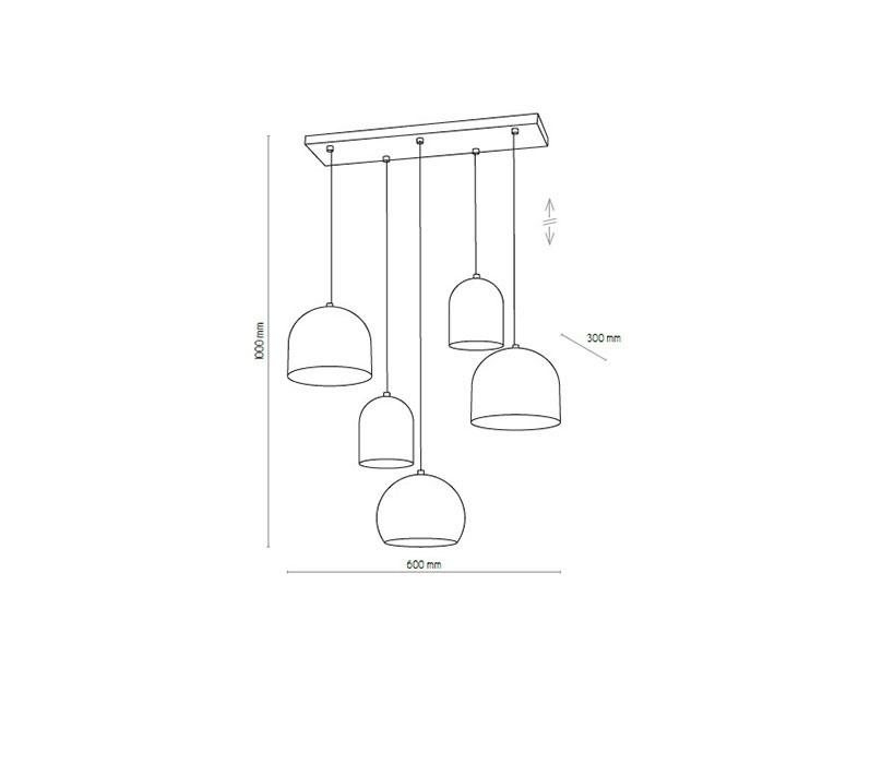 TK Lighting TK-2829 Tempre lámpa függeszték
